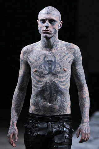 Zombie Boy (Rick Genest) height and weight